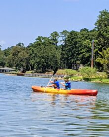Kayaking in Houston - Lake Livingston State Park