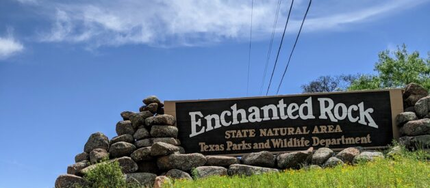 Enchanted Rock State Natural Area Sign